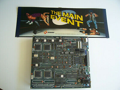 Konami THE MAIN EVENT arcade PCB JAMMA board with Marqee,Tested Working