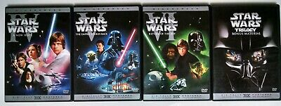 Star Wars Trilogy: IV V VI & Bonus Material (DVD, 4-Discs, Widescreen)