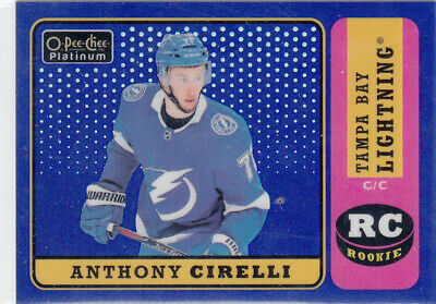 OPC PLATINUM 2018-19  Retro Blue Rainbow - Anthony Cirelli #R79 005/149