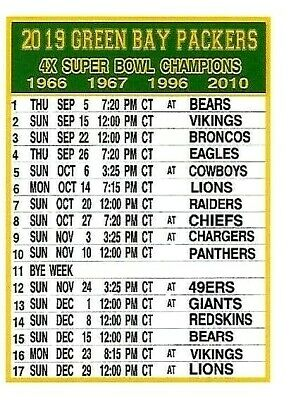 image about Packers Printable Schedule titled G b packers plan