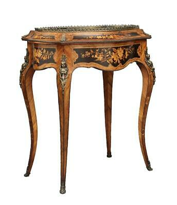 19Th Century French Inlaid Kingwood Bijouterie Table