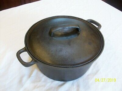 Vintage Country House By Krischer Cast Iron Dutch Oven 4 1/2 Quarts With Lid