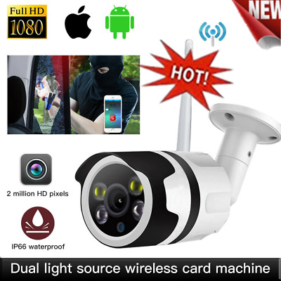 UK Wireless WIFI IP Camera 1080P HD Network Cam CCTV Outdoor Security IR Night##