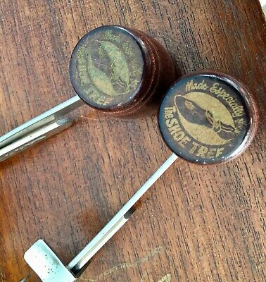 Vintage Wooden Adjustable Shoe Trees Collectable
