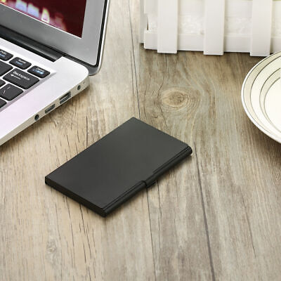 Prof Card Case Business Credit ID Card Holder Aluminum Alloy Metal Box H0K8