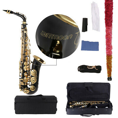 Professional Brass Gold Eb Alto Sax Saxophone E Flat with Accessories +CarryCase