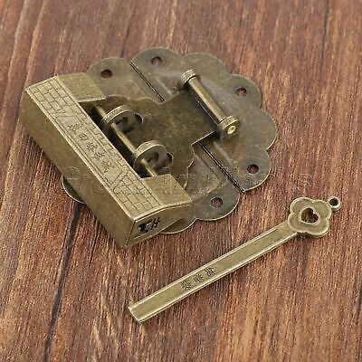 Antique Bronze Padlock & Box Latch Hasp Catch Set For Jewelry Box Chest Decor
