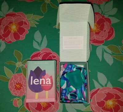 *2* Lena  Menstrual Cup SMALL TURQUOISE . 1 New In Box sealed 1 new in open box