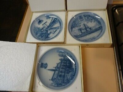 BING & GRONDAHL Collector plate set of 8. Universities of Australia Collection.