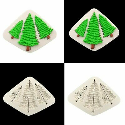 3D Silicone Christmas Tree Mold Chocolate Fondant Cake Decorating Candy Mou L4C2