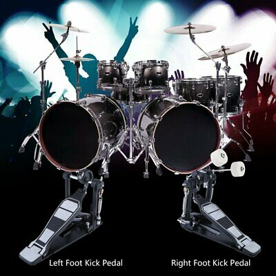 NEW Drums Pedal Double Bass Dual Foot Kick Percussion Drum Set Accessories BT