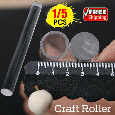 1/5pcs Durable Polymer Clay Craft Clear Acrylic Roller Rolling Pin Art Tools NEW