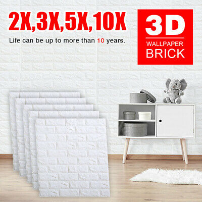 70cm*77cm 3D Wall Paper Panel Brick Stickers Mural Marble Adhesive Home Decal