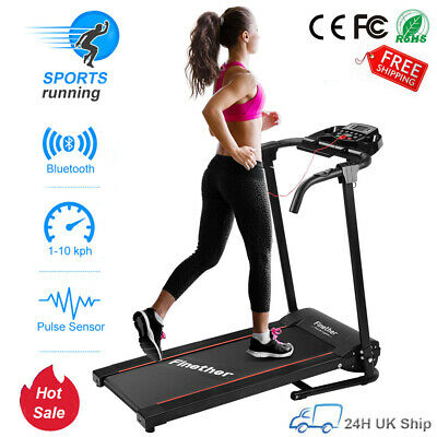Bluetooth Treadmill Electric Power Folding Running Machine Fitness Exercise