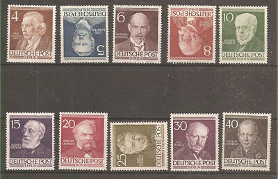 Germany West Berlin 1952/53 Famous Berliners. Mint / used stamp set. B91/100.