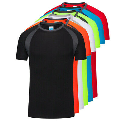 Mens Breathable T-Shirt Quick Dry Athletic Wicking Cool Running Gym Sports Tops