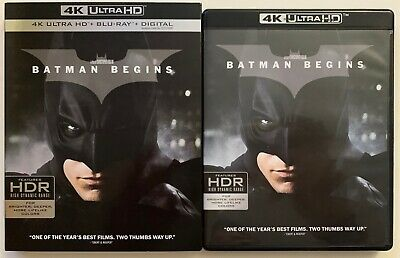 Dc Batman Begins 4K Ultra Hd Blu Ray 3 Disc Set + Slipcover Sleeve Free Shiping