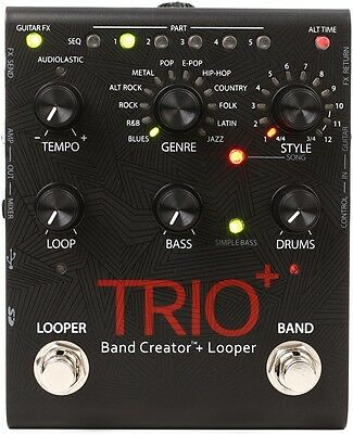 DigiTech Trio+ Band Creator and Looper Guitar Pedal Trio Plus NEW