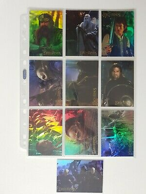 LOTR: Fellowship Of The Ring Trading Card Prismatic Chase Set 1-10 (Topps, 2001)