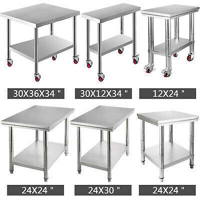 Kitchen Work Table Commercial Catering Bench With Backsplash Food Prep Worktop