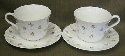 2 x Wedgwood Cascade English Bone China Cups & Saucers - more available