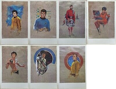 "Kelly Freas Star Trek Prints Set of 7 Officers 19"" x 12 1/2"""