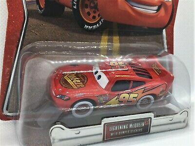 Disney Pixar Cars ** Lightning MCQUEEN With Bumper Stickers**CHASE**1/55 **