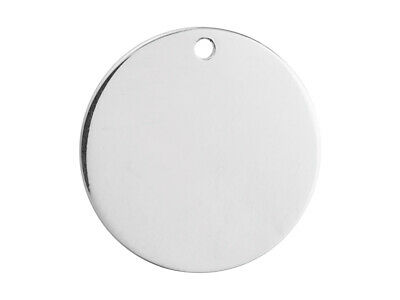 Sterling Silver Round Tag Style Stamping Blanks, 10mm/15mm/20mm/25mm