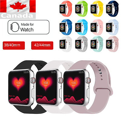 Sports Silicone Replacement Strap Band For iWatch 4 3 2 1 WRIST 38-40-42-44mm