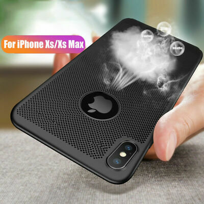 For iPhone XS MAX XR X Ultra Thin Case Shockproof Breathing Mesh Hole Cover