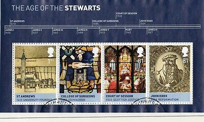 GB QE II 2010 MS3053 Kings and Queens 3rd issue  House of Stewart mini sheet VFU