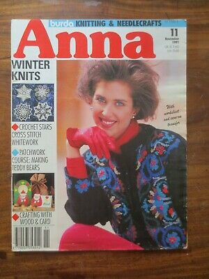 Anna Burda Knitting & Needlecrafts Magazine NOVEMBER 1991 Vintage Retro Patterns