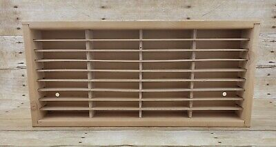 Napa Valley Box Co 36 Cassette Tape Wood Storage Rack Wall Case Mount