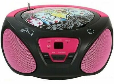 Boombox Portable CD Audio Player with AM/FM Radio Monster High