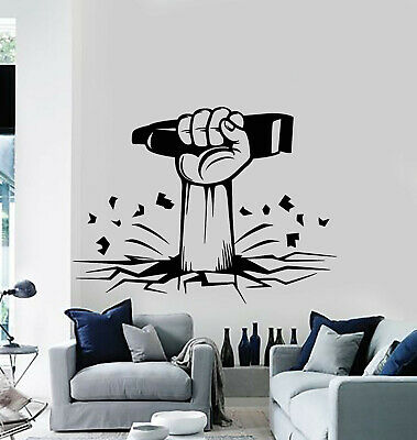 Vinyl Wall Decal Barber Shop Razor Men's Hand Haircut Shaves Stickers (g1121)