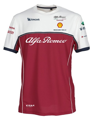 Official Alfa Romeo 2019 F1™ Teamwear Replica Technical T-Shirt Mens Size Large