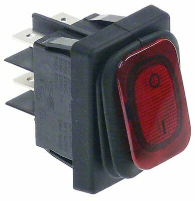 Rocker Switch Mounting Measurements 30X22Mm Red 2No 250V 20A Illuminated 0-I