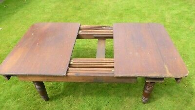 Telescopic table base slide including legs casters both ends Gillows Lancaster