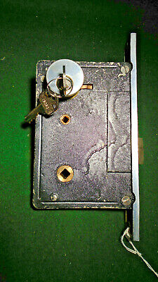 1930's BELLEVILLE-SARGENT 80N70 ENTRY MORTISE LOCK w/CYLINDER AND KEYS (1004-2)