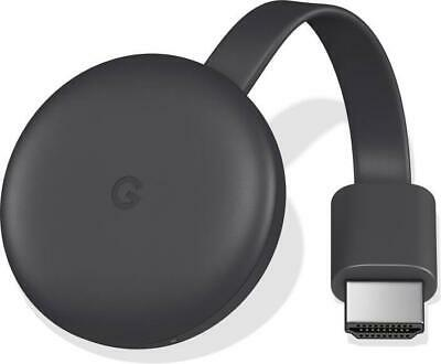 Google Chromecast (3rd Generation) Media Streamer - Black Brand New Sealed