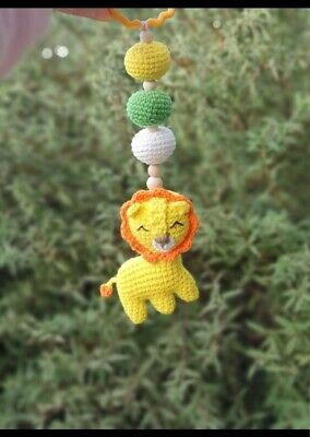 Baby Lion Mobile, lion king toy, crochet pram toy, stroller accessory, nursery