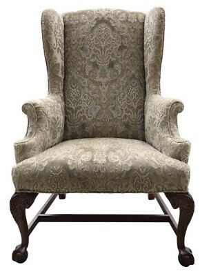 Early 20th Century Chippendale Style American Eagle Wingback Chair
