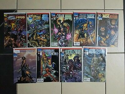 Devil's Reign 1/2 & 1-8 RARE FULL SET Silver Surfer, Wolverine, Ghost Rider