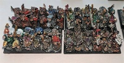 Warmaster - Skaven Army, excellent paint job - 10mm