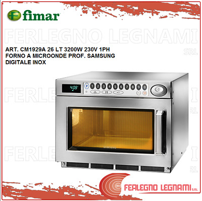 Microwave Oven Prof Samsung 26LT 3200W 1PH Digital Stainless Fimar CM1929A