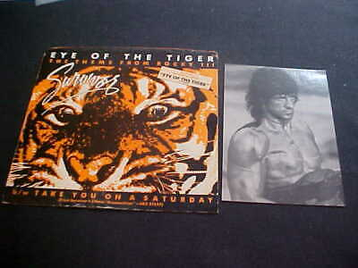 Eye Of The Tiger Theme From Rocky Iii Record Sleeve &Sylvester Stallone Postcard