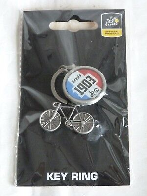 Unused Tour de France Official Merchandise Bicycle Cycling Key Ring FREE P&P