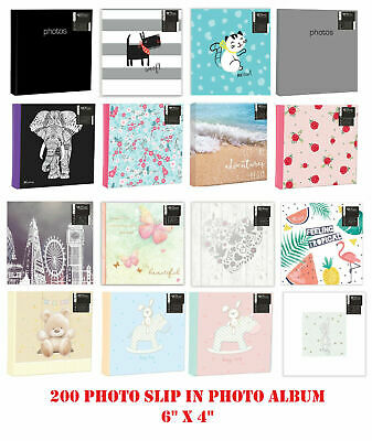 Large Photo Album 6x4 200 Photos Slip In Baby Wedding Travel Fun With Memo Area