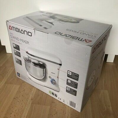 NEW Ambiano Classic Stand Mixer - 800W 5L Bowl - Boxed & never used - WHITE -