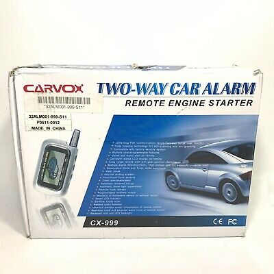 Carvox CX-999 Two-Way Car Alarm With Remote Engine Starter
